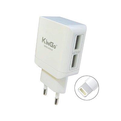 Fonte Celular Kingo U204 Dual 2.4A com Cabo USB Lightning