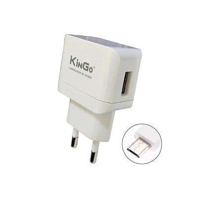 Fonte Celular Kingo U201 2.1A + Cabo USB V8