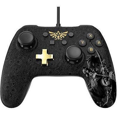 Controle Com Fio Power A Wired Super Mario Preto - Switch