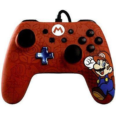 Controle Com Fio Power A Wired Super Mario - Switch