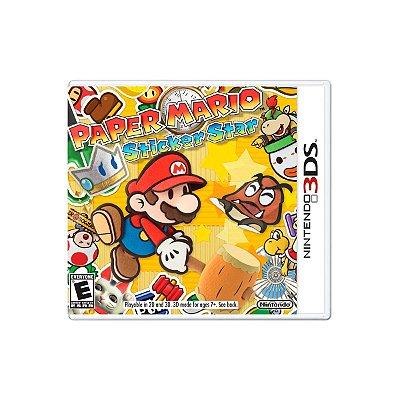 Jogo Paper Mario Sticker Star - 3DS Seminovo
