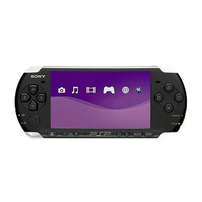 Console PSP Preto + Cartão 4GB Seminovo