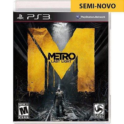 Jogo Metro Last Light - PS3 (Seminovo)