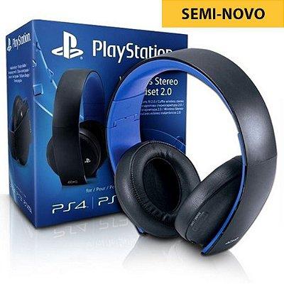 Headset Sony Gold 7.1 Stereo Sem Fio - PS4 (Seminovo)