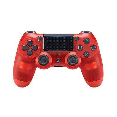 Controle DualShock 4 Crystal Vermelho - PS4
