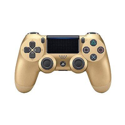 Controle Sem Fio Dourado - PS4