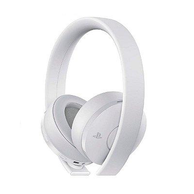 Headset Sony New Gold 7.1 Sem Fio Branco - PS4