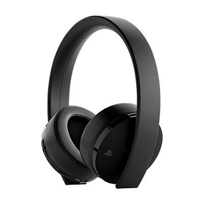 Headset Sony New Gold 7.1 Wireless Preto - PS4