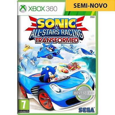 Jogo Sonic & All Star Racing Transformed - Xbox 360 (Seminovo)