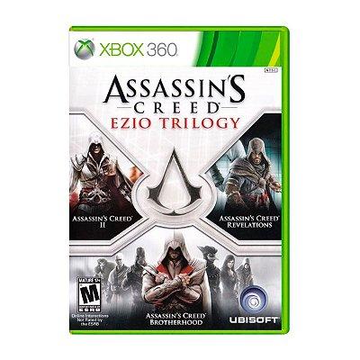 Jogo Assassins Creed Ezio Trilogy - Xbox 360 Seminovo