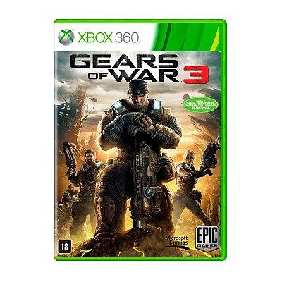Jogo Gears of War 3 - Xbox 360 Seminovo