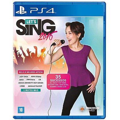 Jogo Let´s Sing 2016 - PS4