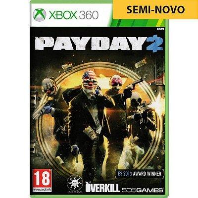Jogo Payday 2 - Xbox 360 Seminovo