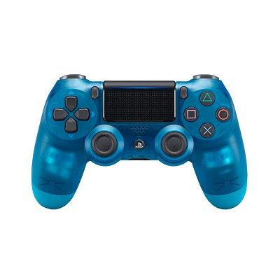 Controle DualShock 4 Crystal Azul - PS4 Seminovo