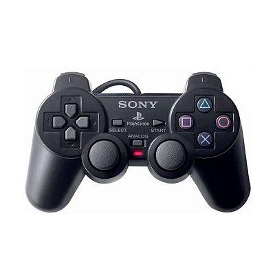Controle DualShock 2 Sony Com Fio - PS2 Seminovo