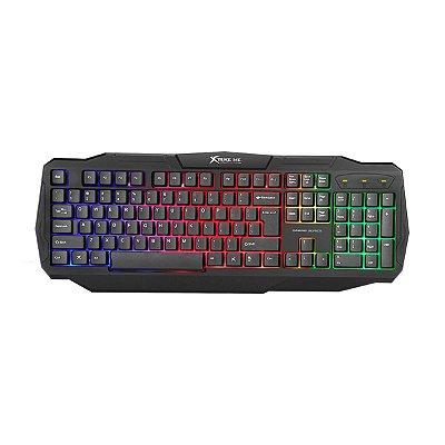 Teclado Membrana Xtrike Me Solid KB-302 RGB Rainbow Backlit