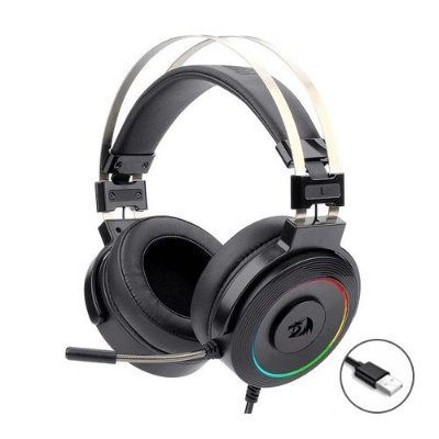 Headset Redragon Solid Lamia 2 H320 RGB USB - PC