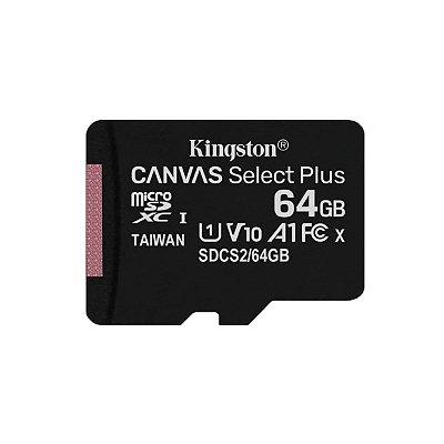 Cartão de Memória Kingston 64GB Ultra MicroSDHC + Adaptador
