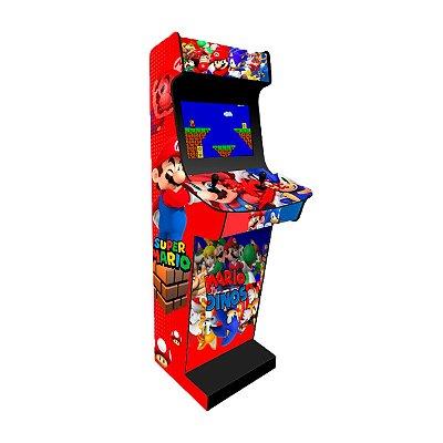 Fliperama Bartop Mário x Sonic