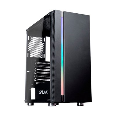 Gabinete Gamer Galax Solid Quasar GX600 Preto Sem Fonte
