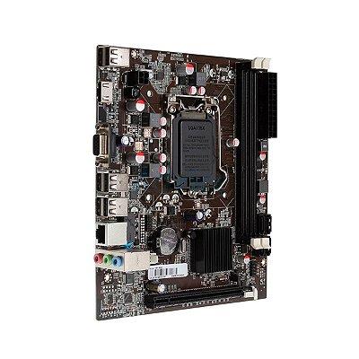 Placa Mãe Afox IH61-MA5 / Chipset H61 / Intel LGA 1155 2º Geração / mATX / DDR3