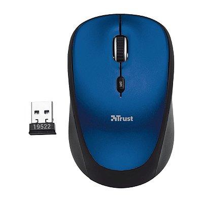 Mouse Trust Yvi Wireless 800/1600 DPI Azul