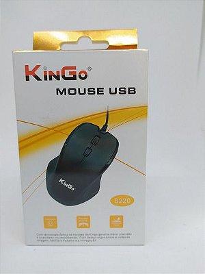 Mouse Kingo S220 USB 1200 DPI Ergonômico
