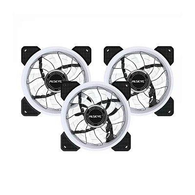 Kit Trio Cooler para Gabinete Alseye Solid D-Ringer 120mm RGB
