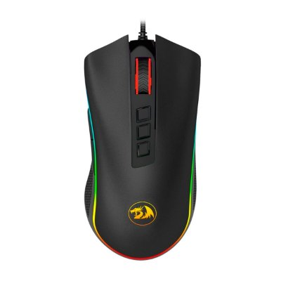 Mouse Gamer Redragon Solid Cobra M711 7 Botões Preto