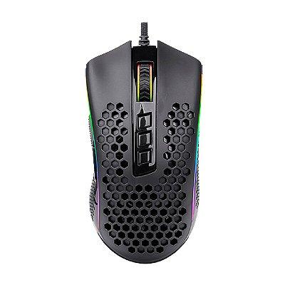Mouse Gamer Redragon Solid Storm 7 Botões Preto RGB