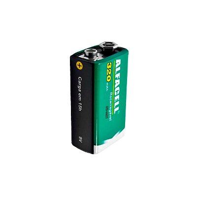 Pilha/Bateria Alfacell Recarregável ALPR62011 9V 320mAh 1 UN C1