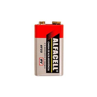 Pilha / Bateria Alfacell 6F22 9V