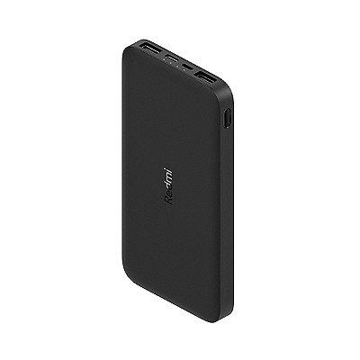 Carregador Portátil Xiaomi Redmi Power Bank 10000 mAh Preto