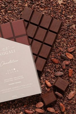 Barra Chocolate Zero Açúcar Amargo 70% 500g