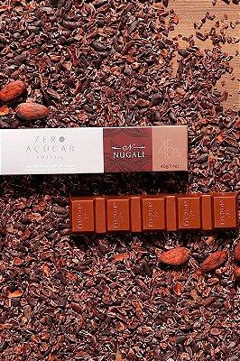 Chocolate Nugali Tablete  Zero Açúcar Ao Leite 40g
