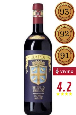 Vinho Barbi Brunello Di Montalcino Docg