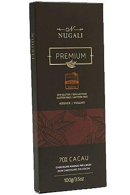 Chocolate Nugali 70% Cacau Vegano 100g
