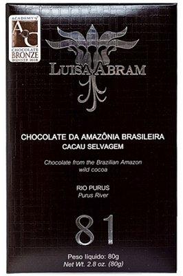 Chocolate Luisa Abram Amargo 81% Rio Purus