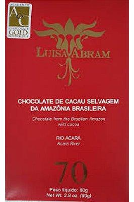 Chocolate Luisa Abram Rio Acará 70% Cacau (80g)