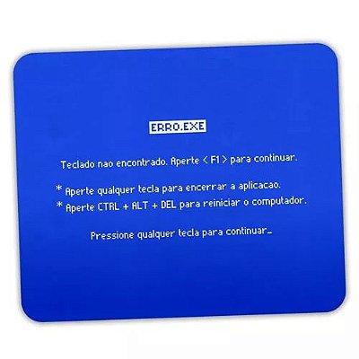 Mouse Pad Tela Azul Teclado