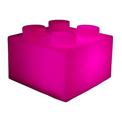 Luminária Bloco Lego Rosa