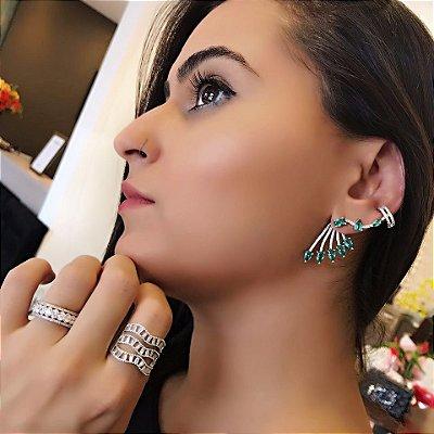 Brinco Verde Ear Cuff