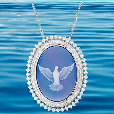 Colar Espirito Santo Azul