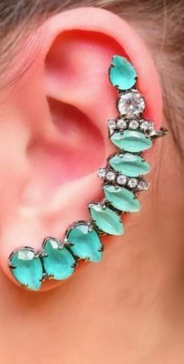 Ear Cuff - Turmalina Azul
