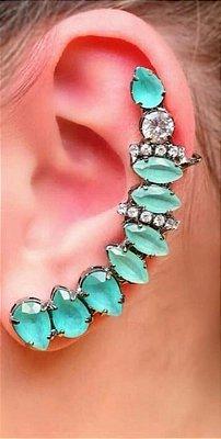 Brinco Ear Cuff - Pedras Turquesa