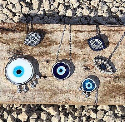 Colar Olho Grego Circular - Tam. M