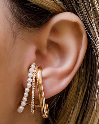 BRINCO EAR HOOK PÉROLA
