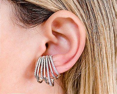 BRINCO EAR HOOK PRATEADO