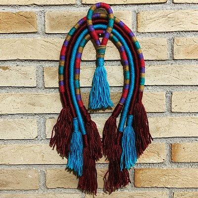 Cocar decorativo turquesa