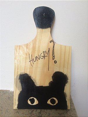 tábua decorativa Cat Hungry